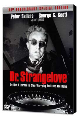 Dr. Strangelove or: How I Learned to Stop Worrying and Love the Bomb - 27 x 40 Movie Poster - Style C - Museum Wrapped Canvas