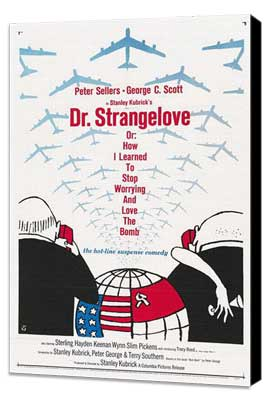 Dr. Strangelove or: How I Learned to Stop Worrying and Love the Bomb - 27 x 40 Movie Poster - Style D - Museum Wrapped Canvas