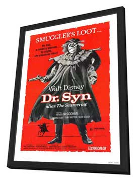 Dr. Syn, Alias the Scarecrow - 27 x 40 Movie Poster - Style A - in Deluxe Wood Frame