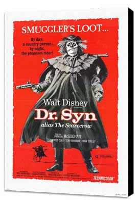 Dr. Syn, Alias the Scarecrow - 11 x 17 Movie Poster - Style A - Museum Wrapped Canvas