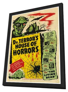 Dr. Terror's House of Horrors - 11 x 17 Movie Poster - Style B - in Deluxe Wood Frame