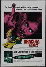 Dracula A.D. 1972 - 27 x 40 Movie Poster - Style B