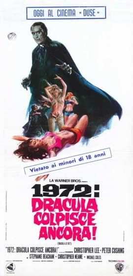 Dracula A.D. 1972 - 11 x 17 Movie Poster - Italian Style B