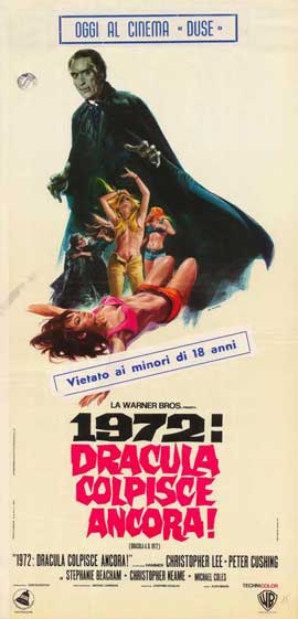 Dracula A.D. 1972 - 27 x 40 Movie Poster - Italian Style A