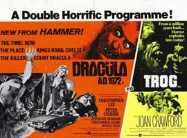 Dracula A.D. 1972/Trog - 11 x 17 Poster - Foreign - Style A