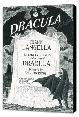 Dracula (Broadway) - 11 x 17 Poster - Style A - Museum Wrapped Canvas