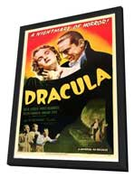 Dracula - 27 x 40 Movie Poster - Style G - in Deluxe Wood Frame