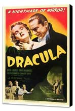 Dracula - 27 x 40 Movie Poster - Style G - Museum Wrapped Canvas