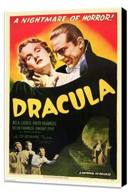 Dracula - 11 x 17 Movie Poster - Style B - Museum Wrapped Canvas