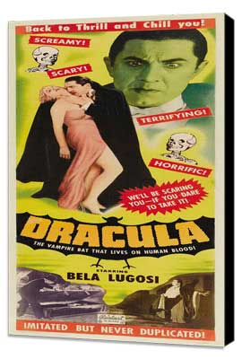 Dracula - 14 x 36 Movie Poster - Insert Style B - Museum Wrapped Canvas