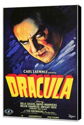Dracula - 27 x 40 Movie Poster - Style F - Museum Wrapped Canvas