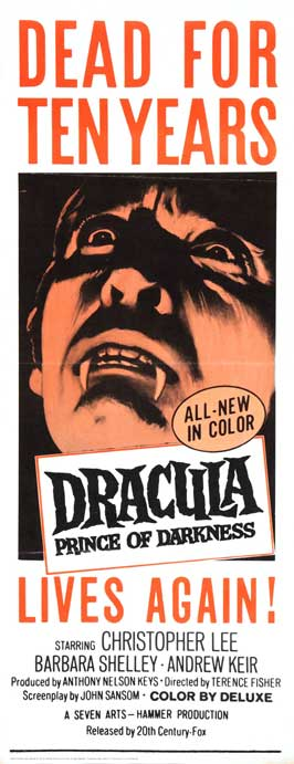 Dracula, Prince of Darkness - 14 x 36 Movie Poster - Insert Style A