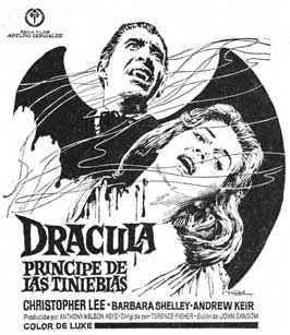 Dracula, Prince of Darkness - 11 x 17 Movie Poster - Spanish Style A