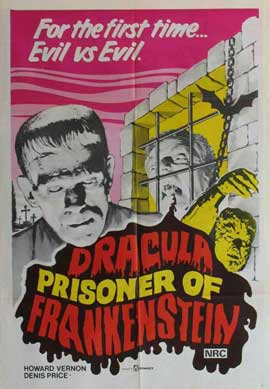 Dracula Prisoner of Frankenstein/Werewolf's Shadow - 11 x 17 Movie Poster - Style A