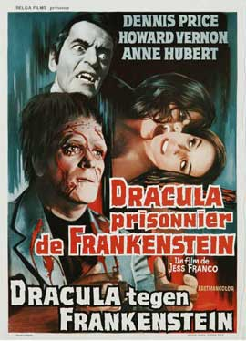 Dracula Prisoner of Frankenstein/Werewolf's Shadow - 27 x 40 Movie Poster - Belgian Style A