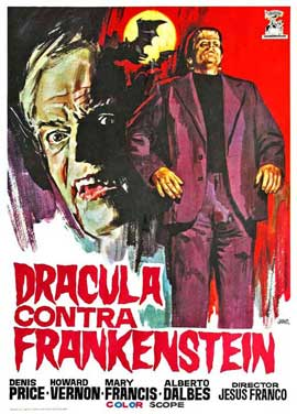 Dracula Vs. Frankenstein - 11 x 17 Movie Poster - Spanish Style A