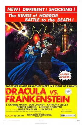 Dracula Vs. Frankenstein - 27 x 40 Movie Poster - Style A