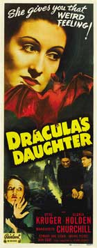 Dracula's Daughter - 14 x 36 Movie Poster - Insert Style B