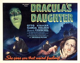 Dracula's Daughter - 22 x 28 Movie Poster - Half Sheet Style B