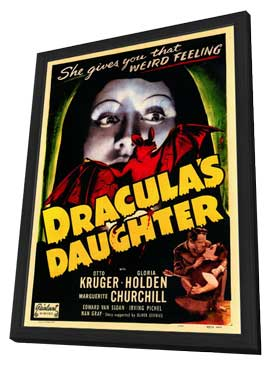 Dracula's Daughter - 11 x 17 Movie Poster - Style A - in Deluxe Wood Frame