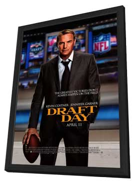 Draft Day - 11 x 17 Movie Poster - Style A - in Deluxe Wood Frame