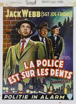 Dragnet - 11 x 17 Movie Poster - Belgian Style A