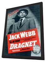 Dragnet - 11 x 17 Movie Poster - Style B - in Deluxe Wood Frame