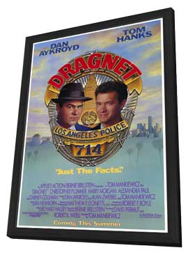 Dragnet - 27 x 40 Movie Poster - Style A - in Deluxe Wood Frame