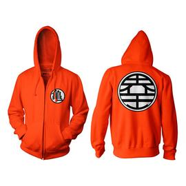 Dragon Ball Z - Z Kame Symbol Orange Zip-Up Hoodie
