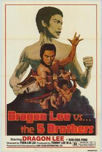 Dragon Lee vs. Five Brothers - 43 x 62 Movie Poster - Bus Shelter Style A