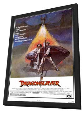 Dragonslayer - 11 x 17 Movie Poster - Style A - in Deluxe Wood Frame