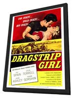Dragstrip Girl - 11 x 17 Movie Poster - Style A - in Deluxe Wood Frame