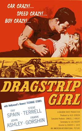 Dragstrip Girl - 11 x 17 Movie Poster - Style B