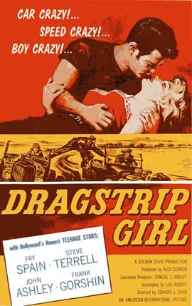 Dragstrip Girl - 27 x 40 Movie Poster - Style B