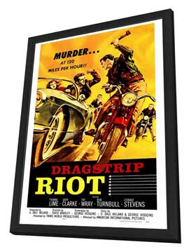 Dragstrip Riot - 27 x 40 Movie Poster - Style A - in Deluxe Wood Frame
