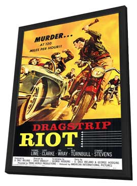 Dragstrip Riot - 11 x 17 Movie Poster - Style A - in Deluxe Wood Frame