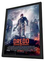 Dredd - 27 x 40 Movie Poster - Style A - in Deluxe Wood Frame