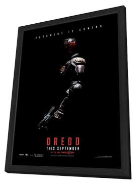 Dredd - 27 x 40 Movie Poster - Style B - in Deluxe Wood Frame