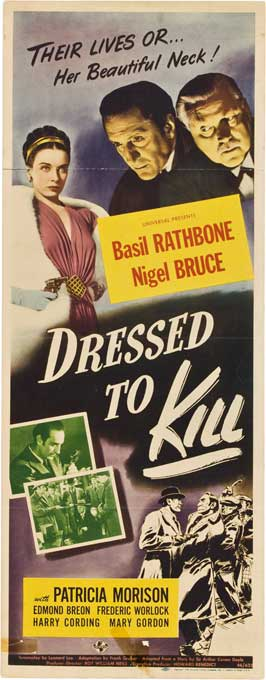 Dressed To Kill - 14 x 36 Movie Poster - Insert Style A