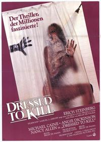 Dressed to Kill - 11 x 17 Movie Poster - German Style A