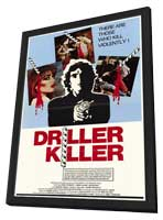 Driller Killer - 27 x 40 Movie Poster - Style A - in Deluxe Wood Frame