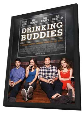 Drinking Buddies - 11 x 17 Movie Poster - Style A - in Deluxe Wood Frame