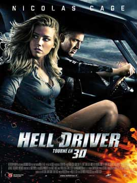 Drive Angry 3D - 11 x 17 Movie Poster - French Style A