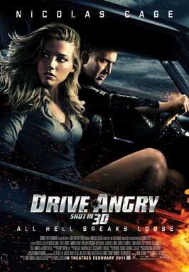 Drive Angry 3D - 27 x 40 Movie Poster - Style B