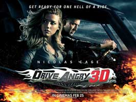 Drive Angry 3D - 11 x 17 Movie Poster - UK Style A