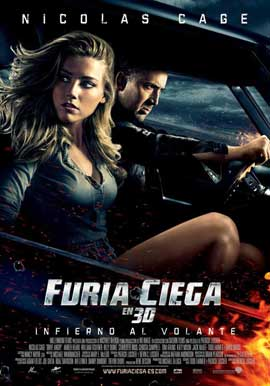 Drive Angry 3D - 11 x 17 Movie Poster - Spanish Style A