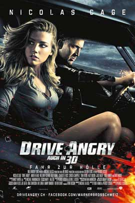 Drive Angry 3D - 11 x 17 Movie Poster - Swiss Style A