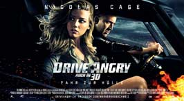 Drive Angry 3D - 11 x 14 Movie Poster - Swiss Style A