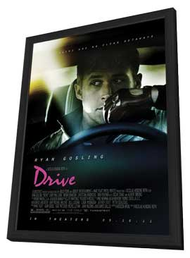 Drive - 27 x 40 Movie Poster - Style A - in Deluxe Wood Frame