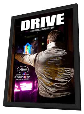 Drive - 11 x 17 Movie Poster - Style B - in Deluxe Wood Frame